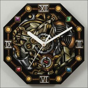 手作り八角形ガラス時計|event-ya