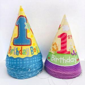 【在庫限り】お誕生日ハット 1st.Birthday 8個セット|event-ya
