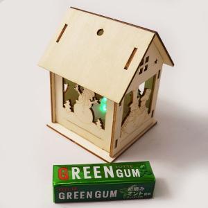 クリスマス手作り工作キット 木のお絵かきスノーマンのおうち 点滅灯付き / 動画有|event-ya