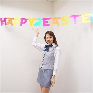 イースター装飾 ラージバナー HAPPY EASTER W185cm / 復活祭 飾り ディスプレイ/メール便可/ 動画有|event-ya