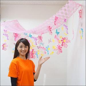 春の装飾 スプリングフラワーハンガー L180cm / 飾り ディスプレイ/ 動画有|event-ya