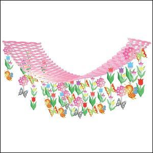 春の装飾 チューリップ畑ハンガー L180cm / 飾り ディスプレイ|event-ya