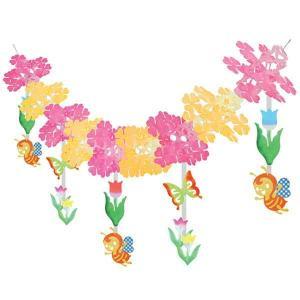 春の装飾 チューリップ畑ガーランド L180cm / 飾り ディスプレイ|event-ya