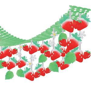 イチゴ装飾 いちごハンガー L180cm / 飾り 装飾 ディスプレイ 春|event-ya