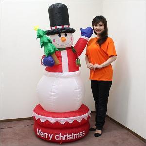 [メーカー希望小売価格の半額]クリスマスエアブロー装飾 ムービングスノーマン H150cm/ 動画有|event-ya