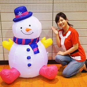 クリスマスエアブロー装飾 ミニスノーマン H120cm×W67cm / ディスプレイ エアブロウ 雪だるま|event-ya
