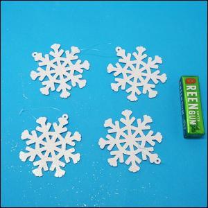 クリスマス装飾 スノーフレークオーナメント 直径8cm×4個組 / 動画有|event-ya