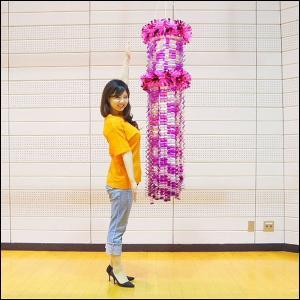 七夕 グラデーション吹流し(150cm) ピンク / 吹き流し 装飾 飾り|event-ya