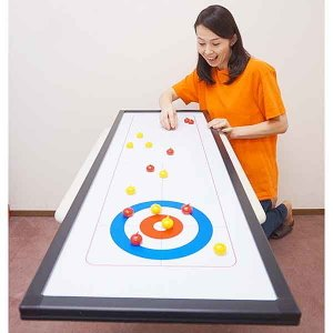 123cm 卓上カーリングゲームセット / スポーツ お手軽 / 動画有|event-ya
