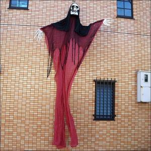 ハロウィンビッグ装飾 ホラーハンギング レッドカーテン 高さ360cm/動画有|event-ya