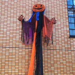 ハロウィンビッグ装飾 ホラーハンギングーパンプキンカーテン H240cm/動画有|event-ya