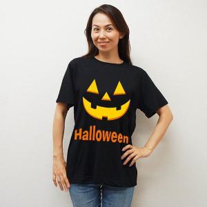 ハロウィンコスチューム パンプキンTシャツ ブラック event-ya