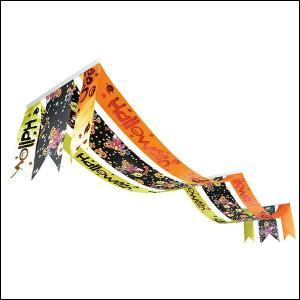 ハロウィン装飾 パンプキン3連ペナント L180cm|event-ya