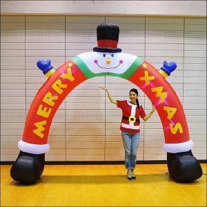 クリスマスエアブロー装飾 アーチスノーマンレッグ W340cm H300cm|event-ya