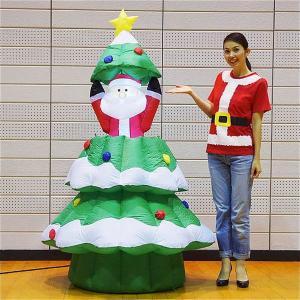 クリスマスエアブロー装飾 ムービングツリーサンタ H180cm×W100cm|event-ya