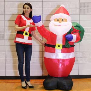 クリスマスエアブロー装飾 プロジェクションライト サンタ H180cm/動画有|event-ya