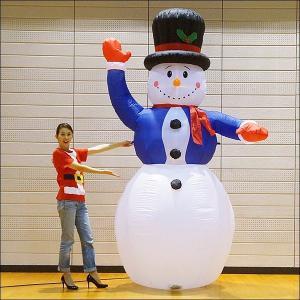 クリスマスエアブロー装飾 ジャンボスノーマン H300cm|event-ya