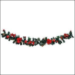 クリスマス装飾 180cmデコレーションガーランド RED|event-ya