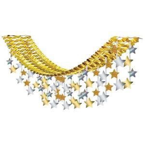 クリスマス装飾 ゴールドスターハンガー L180cm|event-ya