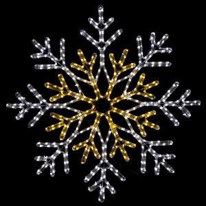 【在庫限り!特価品】LEDイルミネーション チューブライトスノーフレークDX 100cm×100cm / クリスマス|event-ya