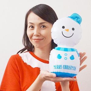 クリスマス装飾 エアーPOP ミニスノーマン H29cm/動画有|event-ya