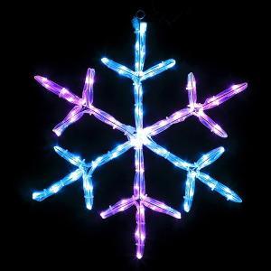 [3割引]LEDイルミネーション ストローチューブモチーフ スノーフレーク 60cm×60cm / クリスマス|event-ya