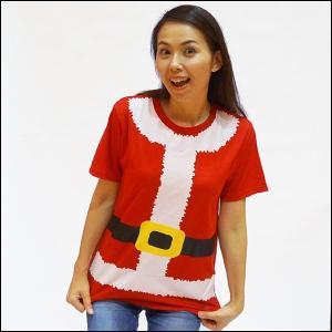 サンタガールコスチューム Tシャツ Mサイズ / クリスマス 衣装 仮装|event-ya