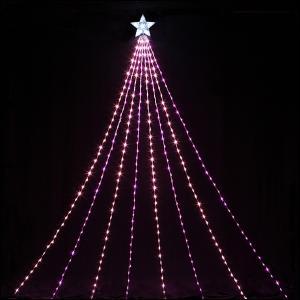 LEDイルミネーション 防滴ナイヤガラライト5mDX ピンク&ベビーピンク 510球 / クリスマス|event-ya
