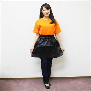 学芸会用手作り衣装 サテン製フレアミニスカート 黒|event-ya