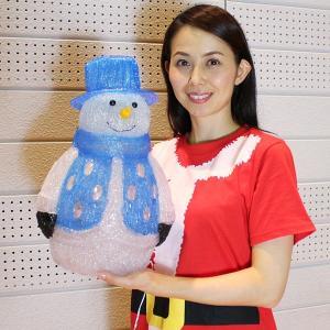 LEDイルミネーション クリスタルモチーフ スノーマン H40cm / クリスマス 装飾 飾り/動画有|event-ya