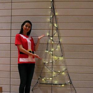 LEDイルミネーション 防滴LEDネットツリー ゴールド H180cm / クリスマス 装飾 飾り/動画有|event-ya