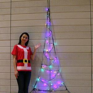 LEDイルミネーション 防滴LEDネットツリー カラフル H180cm / クリスマス 装飾 飾り/動画有|event-ya