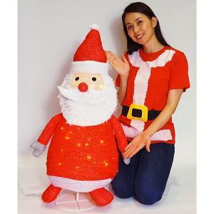折りたたみデコレーション サンタ H80cm / イルミネーション クリスマス 装飾 飾り/動画有|event-ya