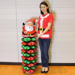 クリスマス装飾 サンタバルーンスタンド H145cm 2個セット/動画有|event-ya|02