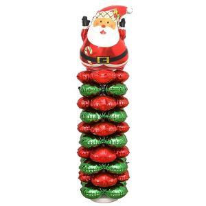 クリスマス装飾 サンタバルーンスタンド H145cm 2個セット/動画有|event-ya|04