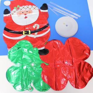 クリスマス装飾 サンタバルーンスタンド H145cm 2個セット/動画有|event-ya|05