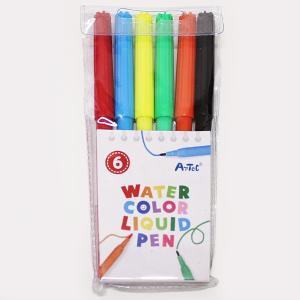 工作色塗り用 水性カラーペン6色セット/家で作る 家で遊ぶ 趣味を作る 家でできる工作 おうち遊び event-ya