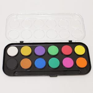 工作色塗り用 固形水彩絵具12色セット/家で作る 家で遊ぶ 趣味を作る 家でできる工作 おうち遊び event-ya