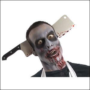 ハロウィングッズ ゾンビクレバースルーヘッド Zombie Cleaver Thru head|event-ya