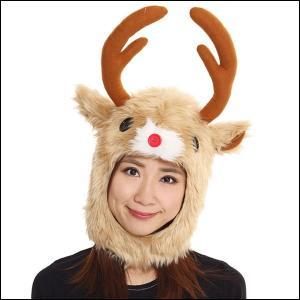 クリスマスかぶりもの もふもふトナカイ / サンタ コスプレ 衣装 パーティー|event-ya