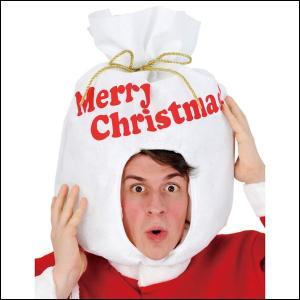 クリスマスかぶりもの サンタの袋ヘッド / サンタ コスプレ 衣装 パーティー|event-ya