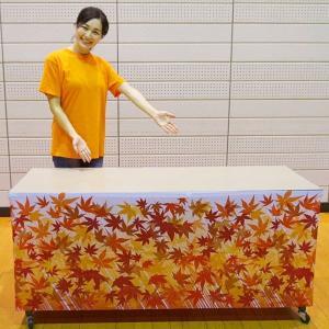 秋装飾 ワゴンなど腰巻きロール幕 もみじ 60cm×5m巻/動画有|event-ya
