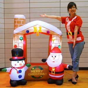フォトスポットエアブロー装飾 クリスマスハウス H137cm/動画有|event-ya