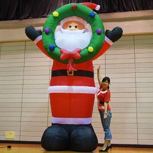 クリスマスエアブロー装飾 ビッグサンタ なんと高さH360cm/動画有|event-ya