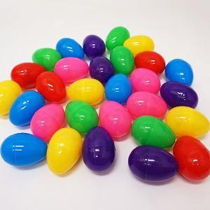 イースターカラフルカプセルたまご 8cm  60個/ 空カプセル 卵型ケース 復活祭 抽選グッズ 集客イベント 卵型おもちゃ プレゼント 景品|event-ya
