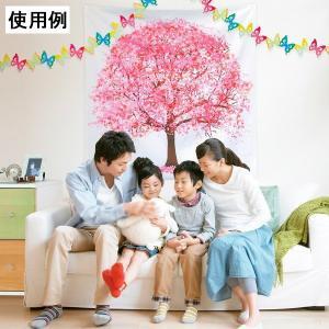 桜装飾 さくら満開バックウォールタペストリー H120cm×W120cm event-ya