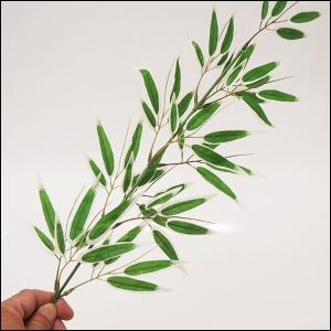 58cmミニ七夕笹 リアルな葉は緑白 / 装飾 飾り ディスプレイ|event-ya