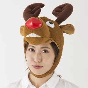 立派なトナカイキャップ / クリスマス サンタ コスチューム 帽子|event-ya