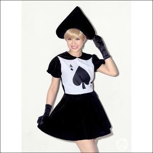 【在庫限り!】ハロウィンコスチューム 黒トランプガール / コスプレ パーティー 衣装 仮装|event-ya