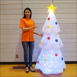 クリスマスエアブロー装飾 ディスコライト ホワイトツリー H180cm / ディスプレイ エアブロウ|event-ya